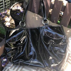 Anya Hindmarch Black Patent Leather handbag